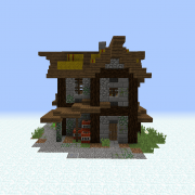 Search rustic village house Blueprints for MineCraft Houses Castles Towers and more GrabCraft