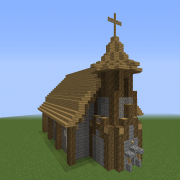 Search small church Blueprints for MineCraft Houses Castles Towers and more GrabCraft