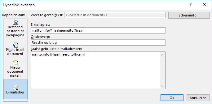 Hyperlink (e-mail)