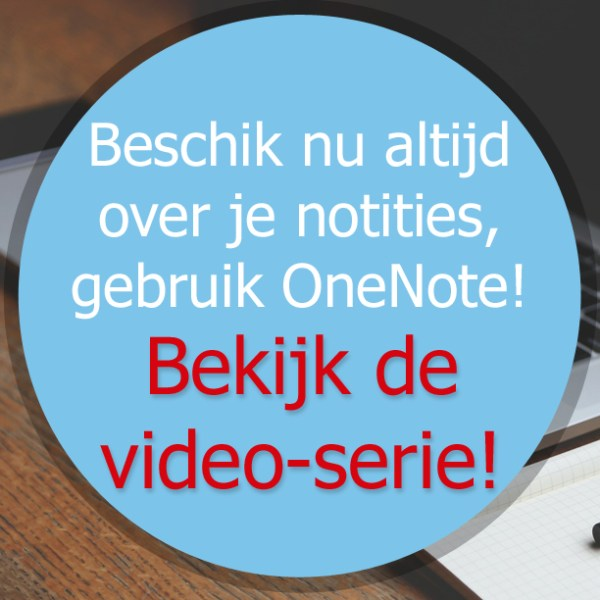 Productfoto videoserie OneNote