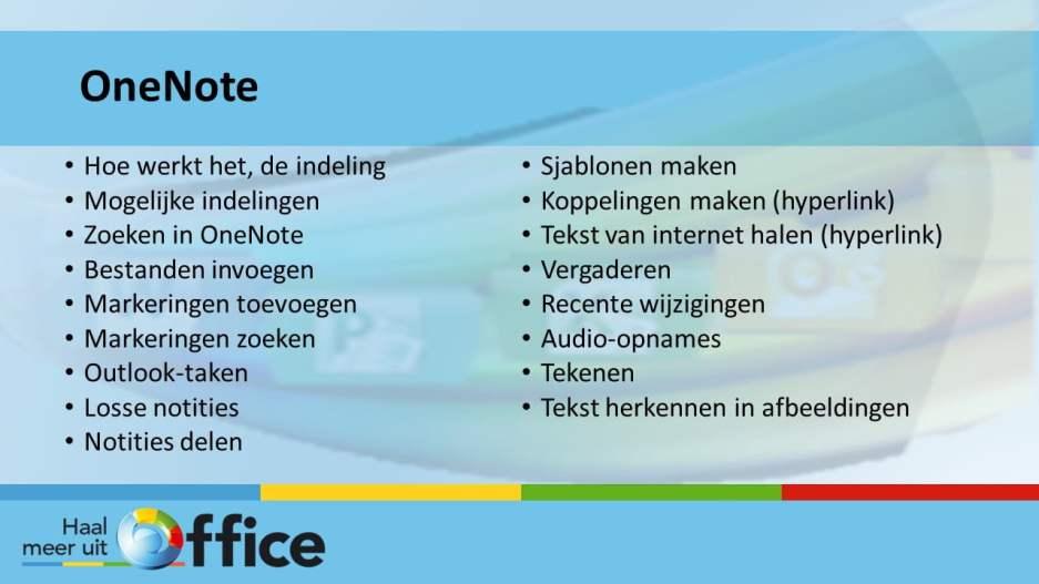 1-op-1-traject Haal meer uit Office - OneNote