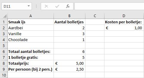 Basisformules - delen