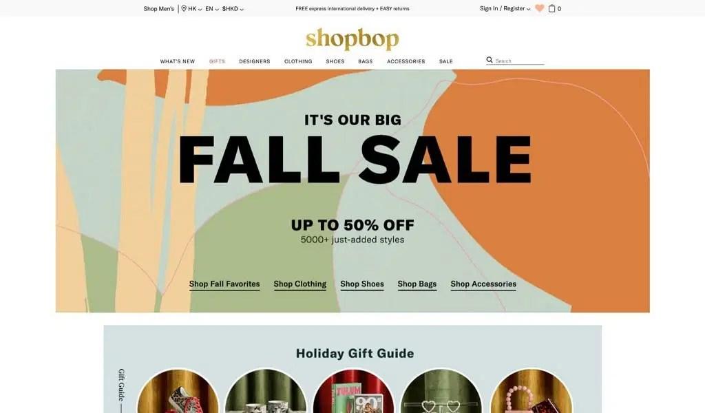 Shopbop/EastDane 秋季大減價優惠:全站低至5折優惠碼   香港堅慳家網購慳人包