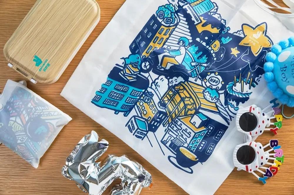 Deliveroo 戶戶送 五歲生日優惠:全日餐牌半價+謝曬皮推特色外賣布袋 | 香港堅慳家網購慳人包