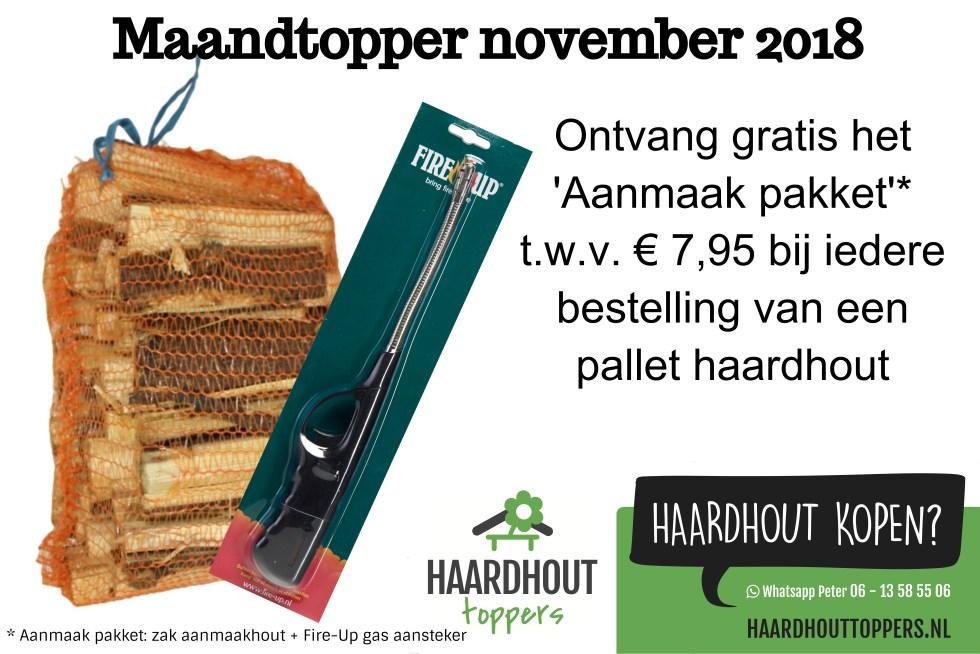 Maandtopper november 2018 - Haardhouttoppers.nl