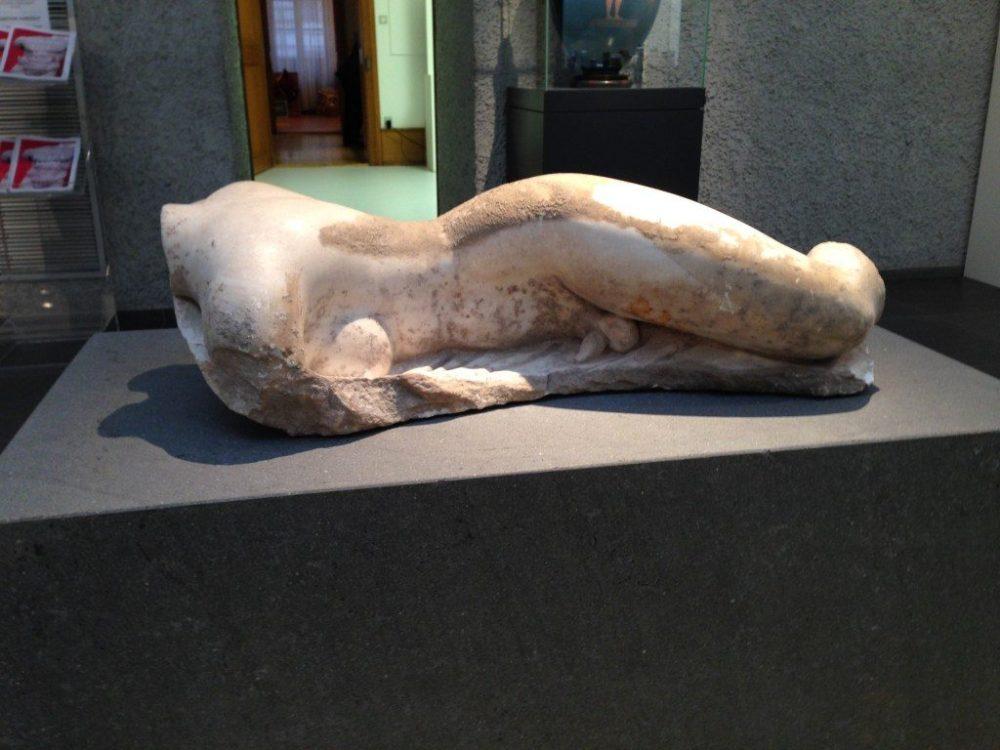 Gott Hermaphroditos, ein antikes Zwitterwesen im Antikenmuseum in Basel - entdeckt während einem Ausflug der HAB-Kulturgruppe.
