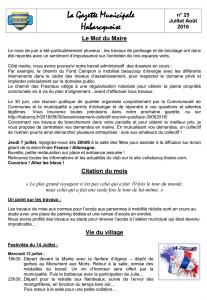 025 - Gazette Juillet-Aout 2016