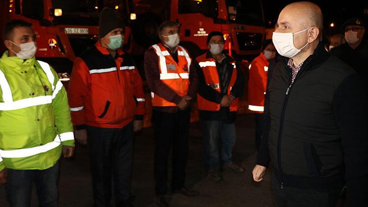 Bakanı Karaismailoğlu, yeni yıla Bolu'da kara yolu çalışanlarıyla girdi