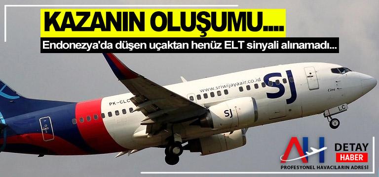 Endonezya'da düşen uçaktan henüz ELT sinyali alınamadı…