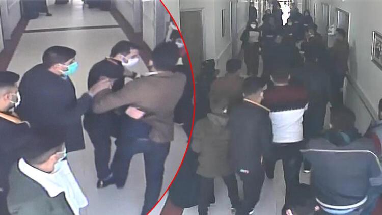 Şanlıurfa'da hastanede dehşete düşüren görüntüler! 20 hasta yakını güvenlik görevlisini dövdü