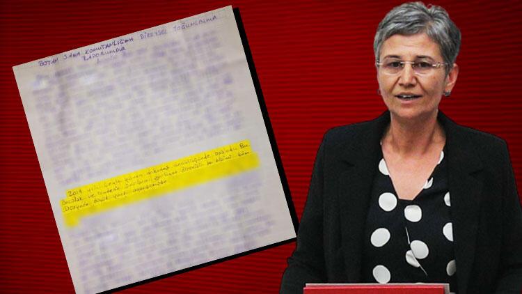 Teröristlerin el yazısından Leyla Güven'in desteği ortaya çıktı!