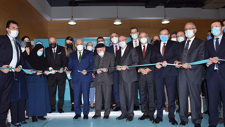 24 saat açık kalacak kütüphane, Binali Yıldırım ve Efkan Ala'nın katılımıyla açıldı