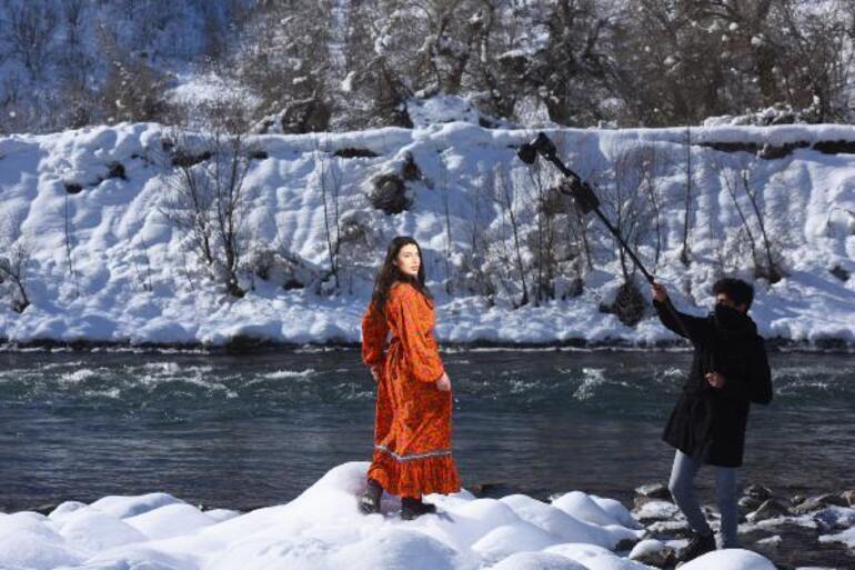 Teröristlerden temizlenen Munzur Dağlarında moda çekimi