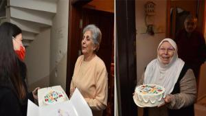 65 yaş üstü vatandaşlara doğum günü sürprizi