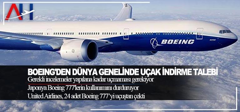 Boeing'den dünya genelinde uçak indirme talebi