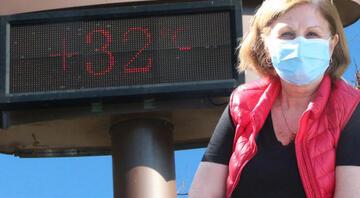 Fotoğraf bugün çekildi Adanada termometreler 32 dereceyi gösterdi