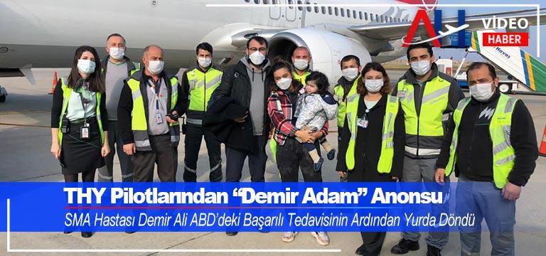 """Türk Hava Yolları Pilotlarından """"Demir Adam"""" Anonsu"""