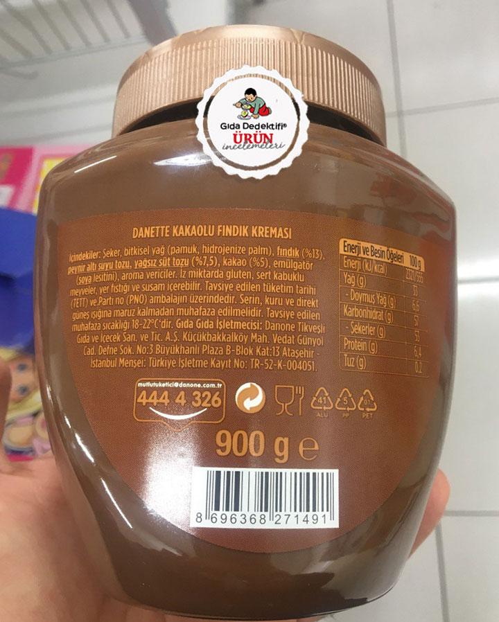 Danette Kakaolu Fındık Kreması - Gıda Dedektifi