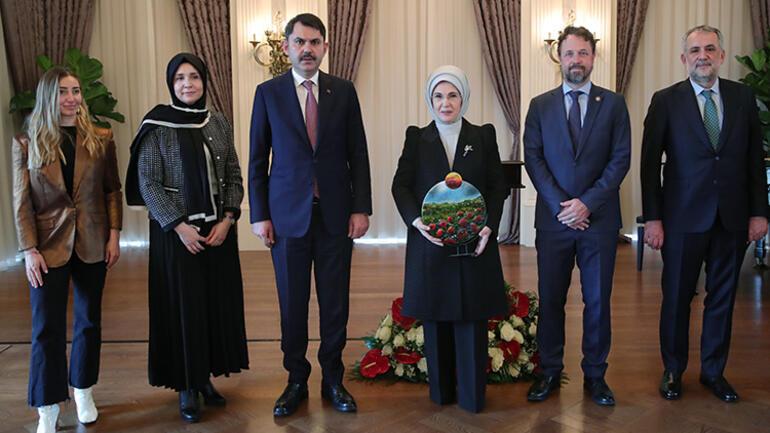 Emine Erdoğan, çevre çalışmalarından dolayı BMnin Küresel Amaçlar Eylem Ödülüne layık görüldü