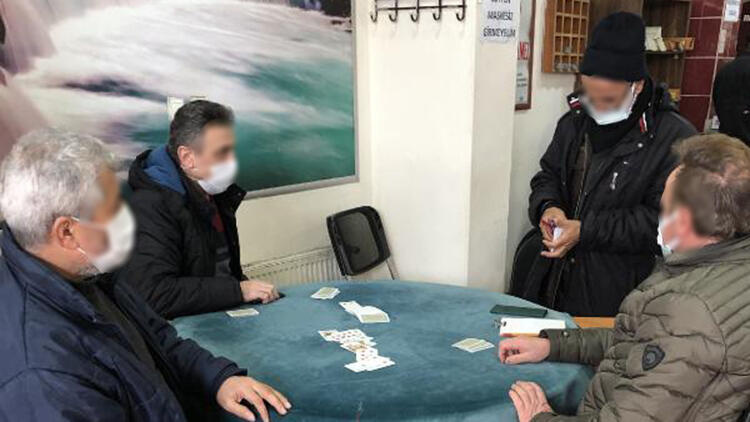 Avcılar'da kahvehanede oyun oynayanlara ceza