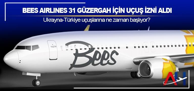 Bees Airlines 31 güzergah için uçuş izni aldı