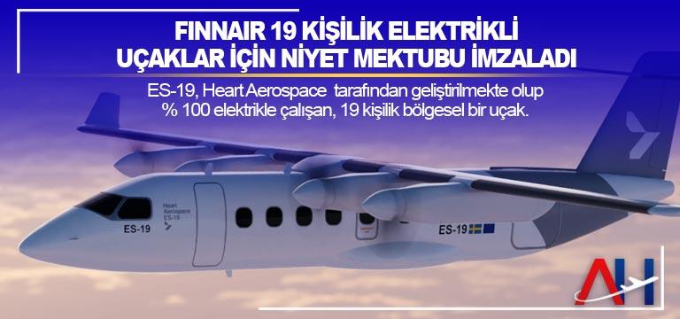 Finnair 19 kişilik elektrikli uçaklar için niyet mektubu imzaladı