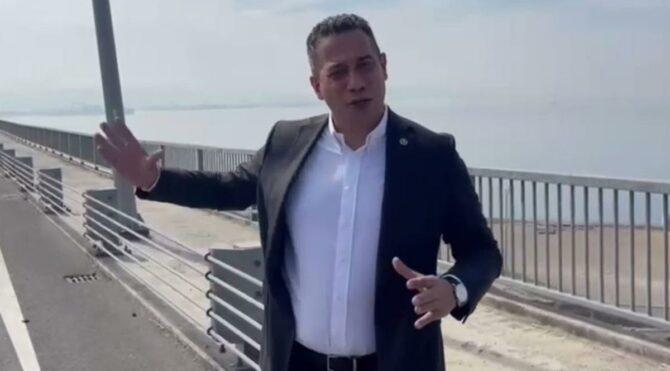 Osmangazi Köprüsü'nden geçen araçları saydı