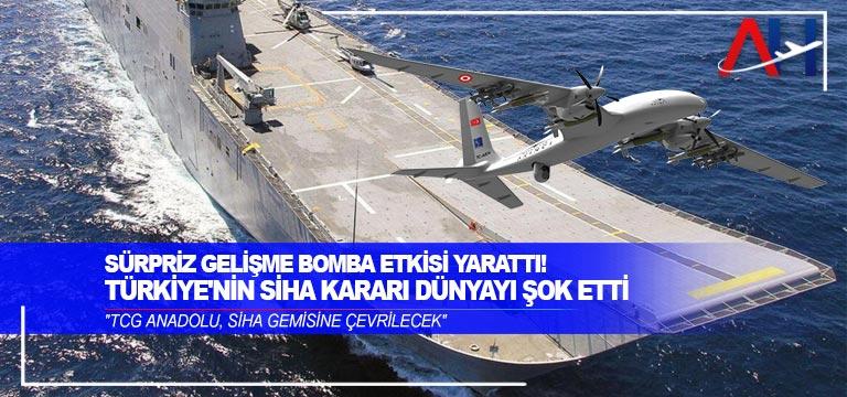 Türkiye, TCG Anadolu'yu SİHA'larla donatacak