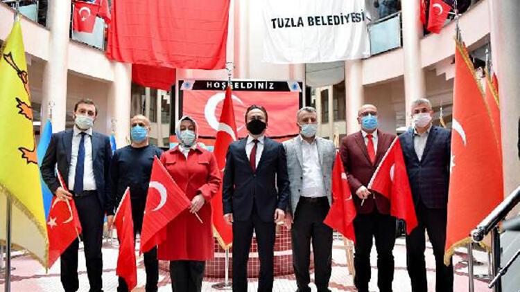 Tuzla'da İstiklal Marşı'nın kabulünün 100'üncü yılı kutlandı