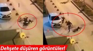 Dehşete düşüren görüntüler ortaya çıktı Polisin başına telsizle defalarca vurdu...