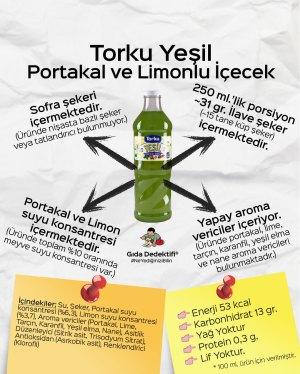 Torku Yeşil Portakal ve Limonlu İçecek - Gıda Dedektifi