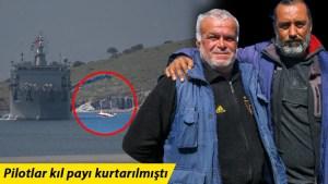 İzmir'de denize düşen uçaktaki pilotların kurtarılmasına yardım eden balıkçılar konuştu