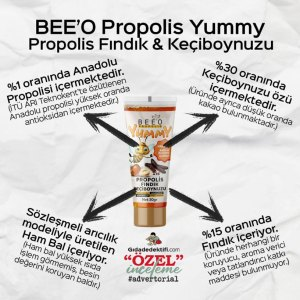 BEE'O Propolis Yummy Propolis Fındık & Keçiboynuzu - Gıda Dedektifi