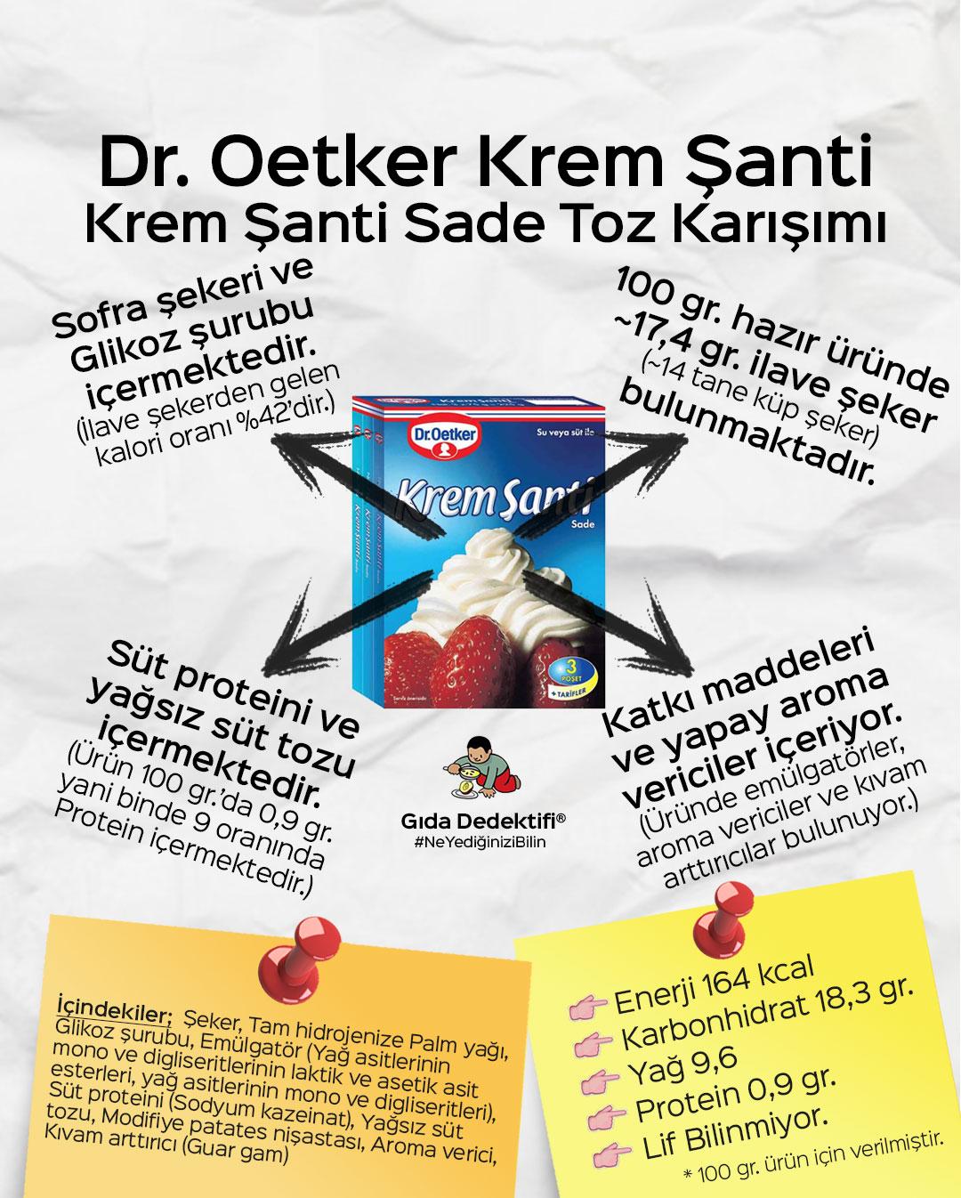 Dr. Oetker Krem Şanti - Gıda Dedektifi
