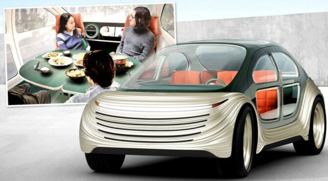 Bu otomobil diğer araçların kirliliğini temizleyecek