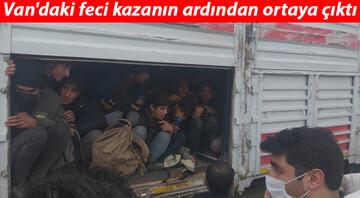 Vandaki feci kazanın ardından ortaya çıktı TIRdan gelen sesler üzerine arama yapıldı, 114 kaçak göçmen bulundu