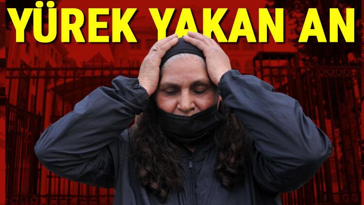 Duygu Çelikten'in annesi kararı duyunca Leyla Çelikten mahkeme heyetinin önünde diz çöktü
