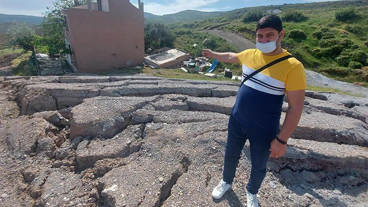 Harmandalı'nda korkutan yarıklar! Evler tahliye edildi: Neler olduğunu kimse bilmiyor