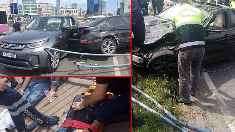 İstanbul Beşiktaş'ta feci kaza! Makas atarak ilerliyordu... 4 yaralı 11 araç hasar gördü