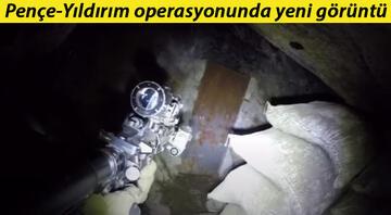 Pençe-Yıldırım operasyonunda yeni görüntü Mağara içinde çelik kapıyla ayrılmış rehine odası bulundu