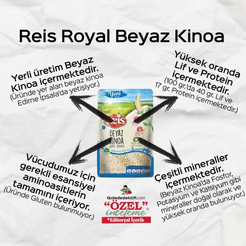 Reis Royal Beyaz Kinoa - Gıda Dedektifi