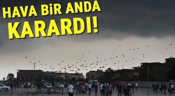 Gök gürültüsü İstanbulda deprem mi oldu paylaşımlarına neden oldu Evlerin camları titredi...