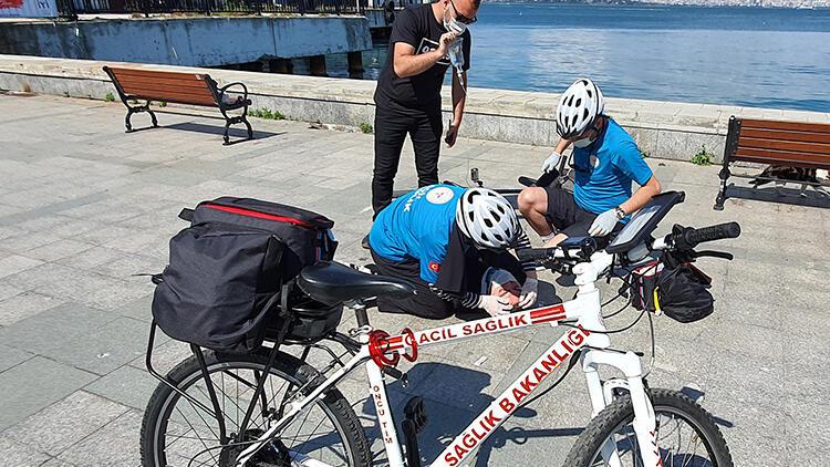 Adalar'da bisikletli ambulanslarla anında acil müdahale