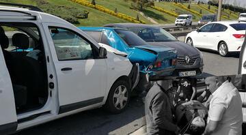 TEMde 4 aracın karıştığı zincirleme kaza Yaralılar var