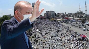 Taksim Camii ibadete açıldı Kalabalık meydana taştı
