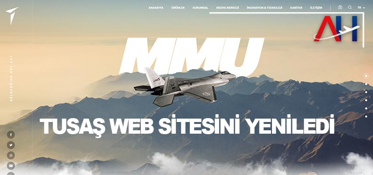 TUSAŞ WEB SİTESİNİ YENİLEDİ