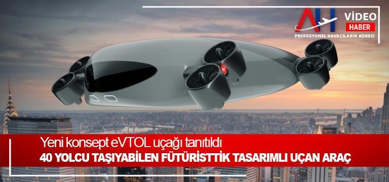 Yeni konsept eVTOL uçağı tanıtıldı