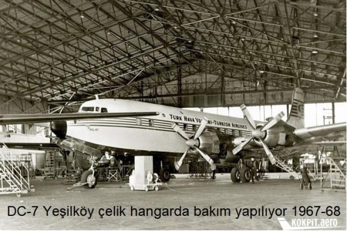 DC 7 THY Celik Hangarinda