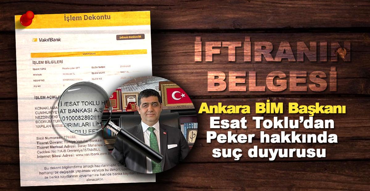 İşte iftiranın belgesi! BİM Başkanı Esat Toklu'dan Peker hakkında suç duyurusu | SON TV