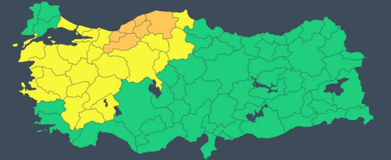 Son dakika: Meteorolojiden İstanbul, Ankara, İzmir dahil çok sayıda kente sarı uyarı Sağanak etkili olacak